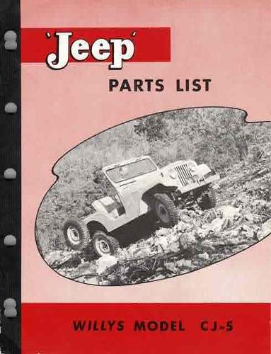 1945-1958 Jeep Willys Illustrated Popular Parts Book Catalog CJ Truck Wagon Car